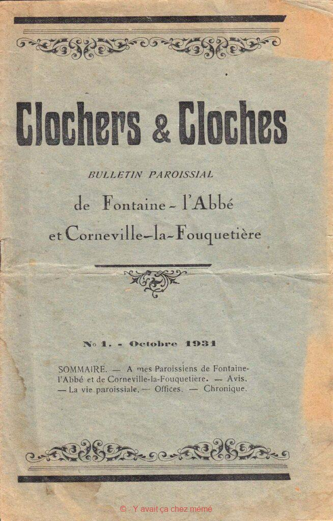 Fontaine-l'abbé - Clochers & cloches - Bulletin paroissial