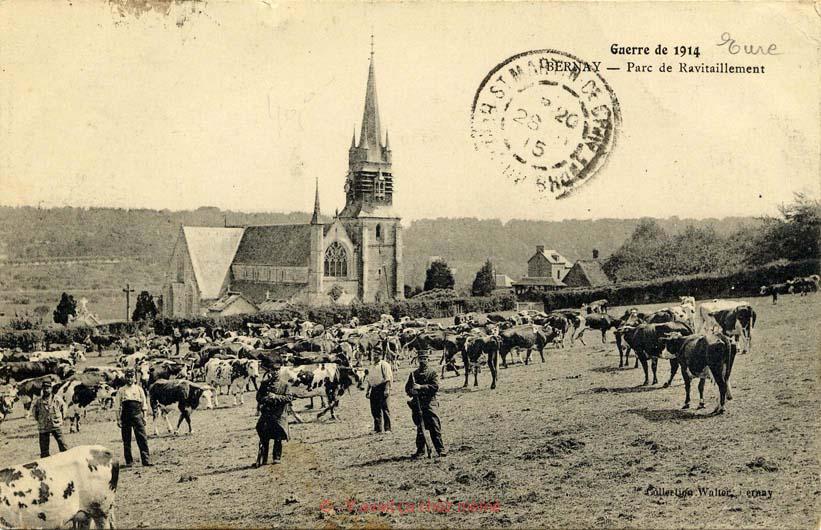 Bernay - Parc de ravitaillement (guerre 1914)