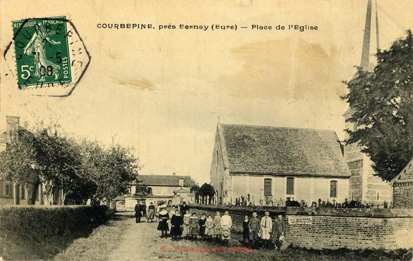 Courbépine - Place de l'église