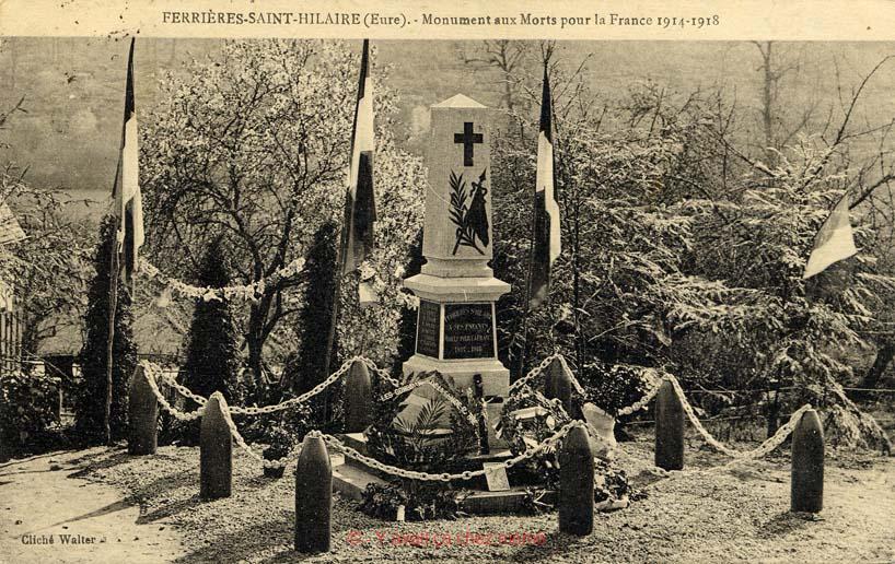 Ferrières-St-Hilaire - Monuments aux morts pour la France 1914-1918