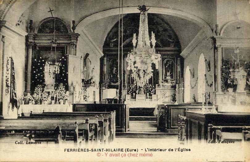 Ferrières-St-Hilaire - L'intérieur de l'église