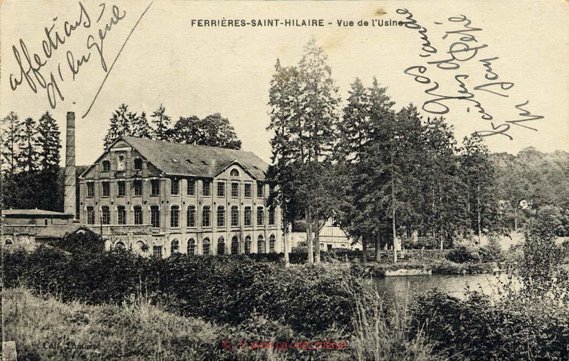 Ferrières-St-Hilaire - Vue de l'usine