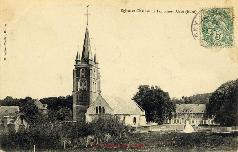 Fontaine-l'Abbé - Église et château