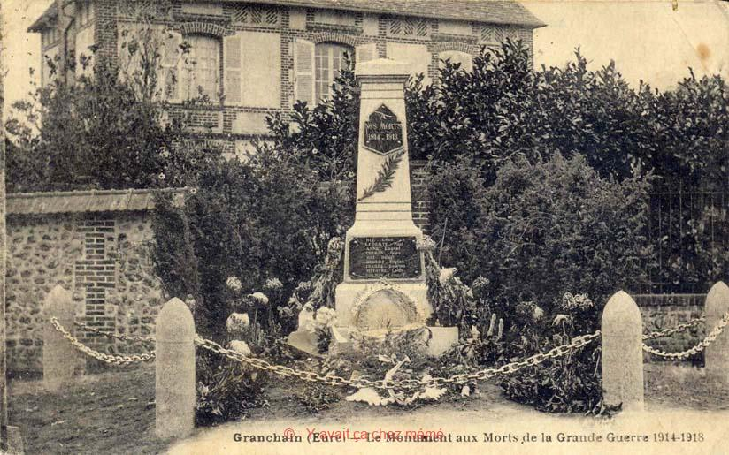 Granchain - Le monument aux morts