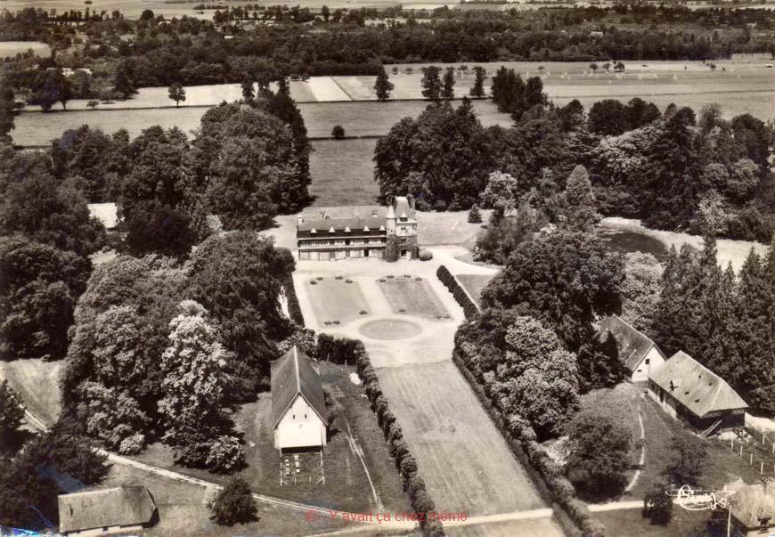 Grand-Camp - Vue aérienne du vieux manoir