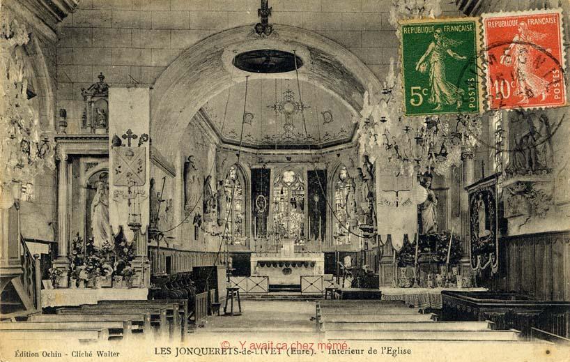 Jonquerets-de-Livet - Intérieur de l'église