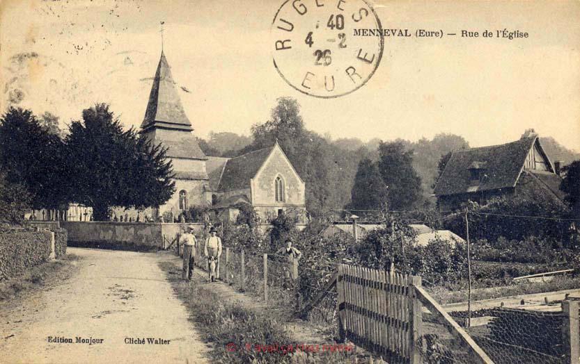 Menneval - Rue de l'église