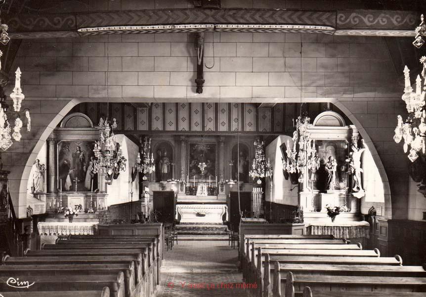 St-Aubin-le-Vertueux - L'intérieur de l'église