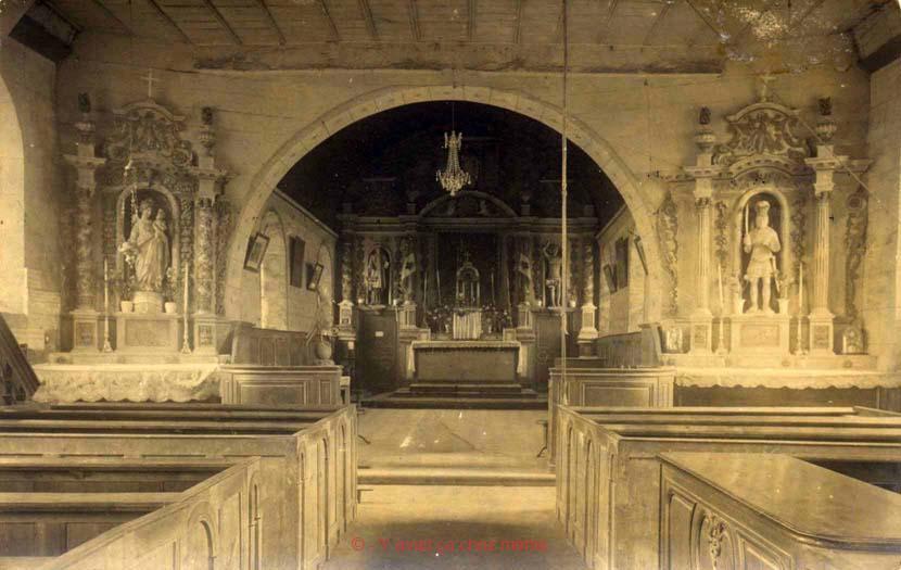 St-Clair-d'Arcey - L'intérieur de l'église