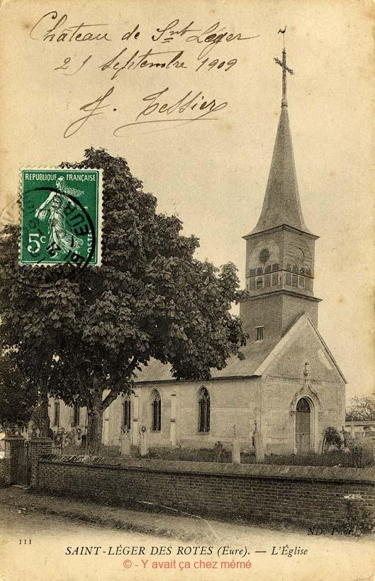 St-Léger-de-Rostes - L'église (Saint-Léger)