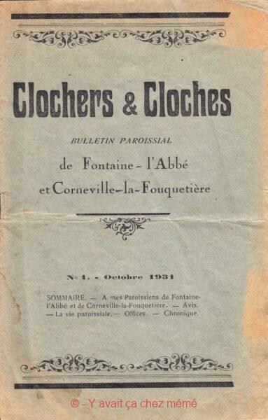 Fontaine-l'abbé - Clochers & cloches - Bulletin paroissial