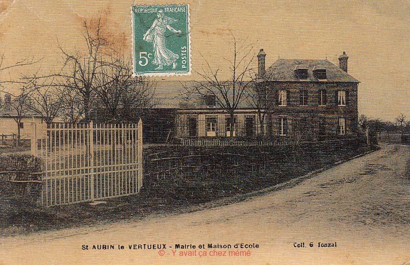 St-Aubin-le-Vertueux - Mairie et Maison d'École