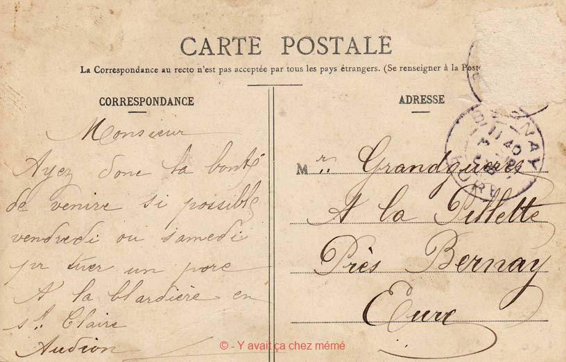 St-Clair-d'Arcey - Courrier