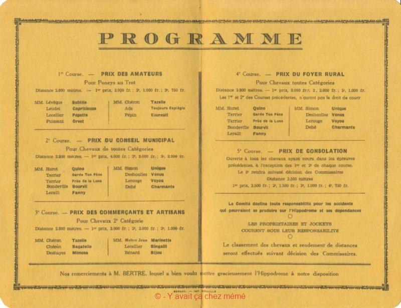 St-Clair-d'Arcey - Grandes Courses Hippiques (01-08-1948)