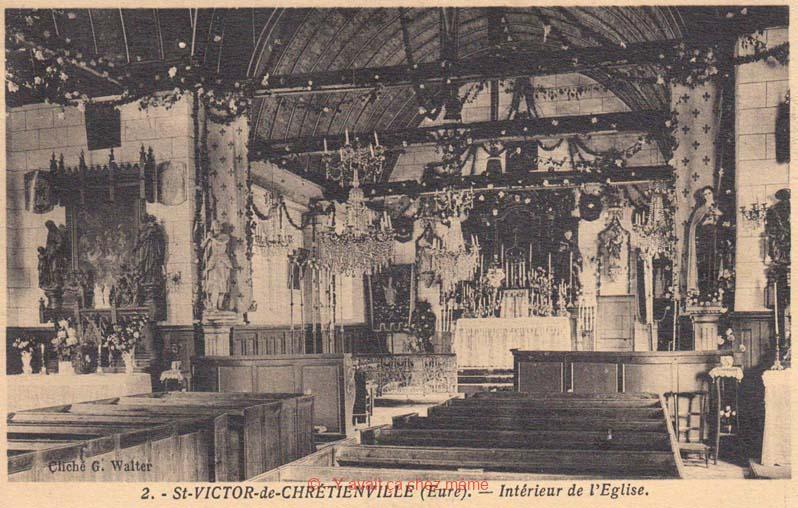 St-Victor-de-Chrétienville - L'intérieur de l'église