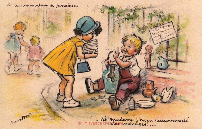 Le raccommodeur de porcelaine - Ah! madame, j'en ai raccommodé des ménages !...