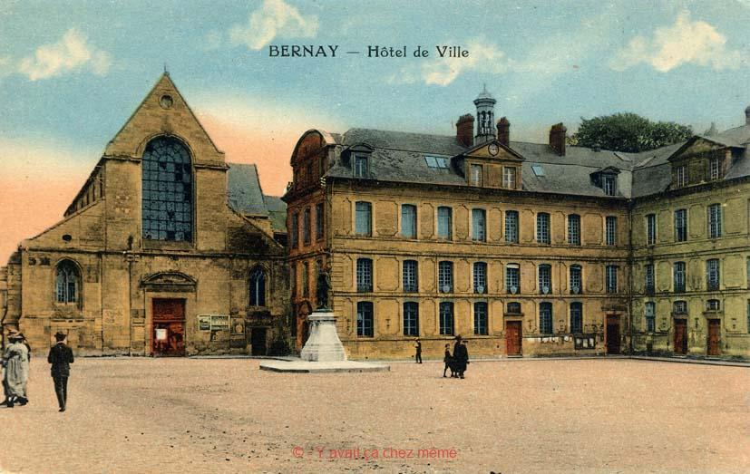 L'abbatiale et l'hôtel de ville