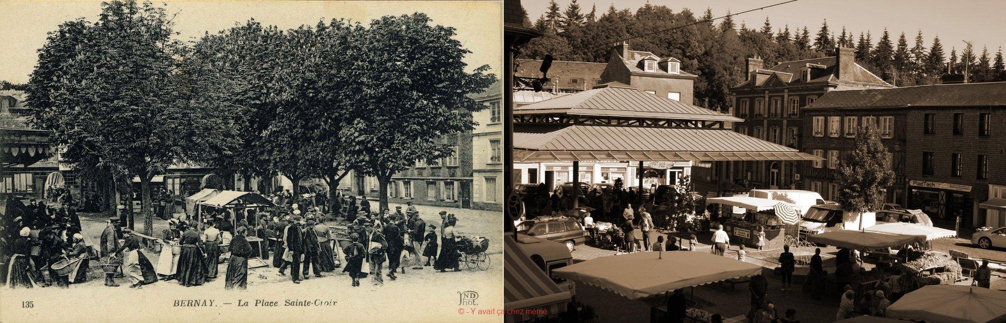 Cent ans entre ces deux vues.