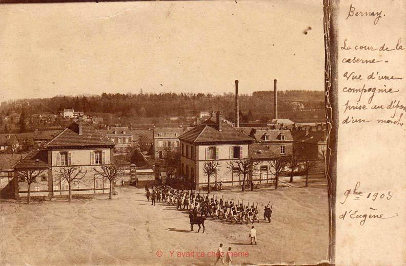 Une vue du quartier de La Couture depuis les étages du bâtiment principal de la caserne Turreau