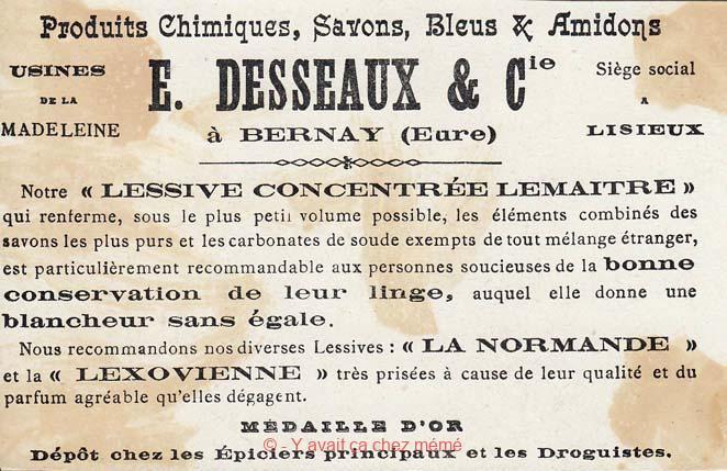 Lessives DESSEAUX - Produits chimiques, savons, bleus & amidons