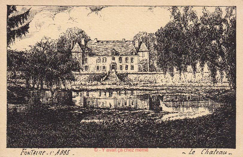Vue de l'arrière du Château eu du plan d'eau