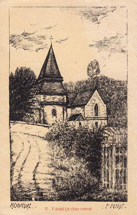 L'église vue de la côte