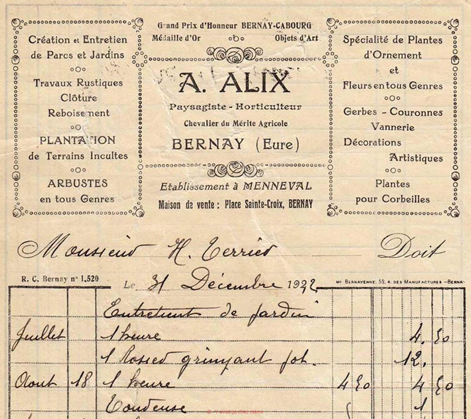 Les Jardins ALIX - Production à MENNEVAL et vente à BERNAY au 90 rue Thiers