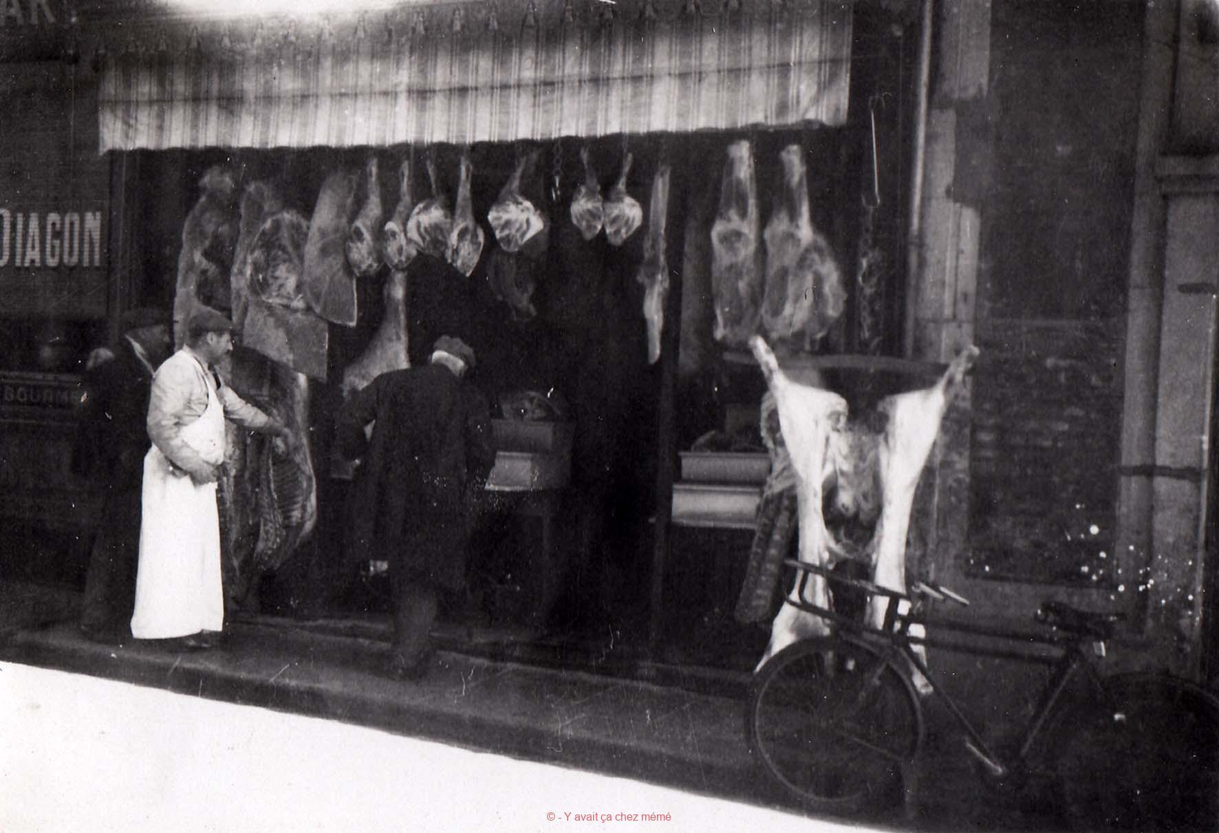 Rue Auguste Le Prévost (5) - La boucherie Aupoix en 1940